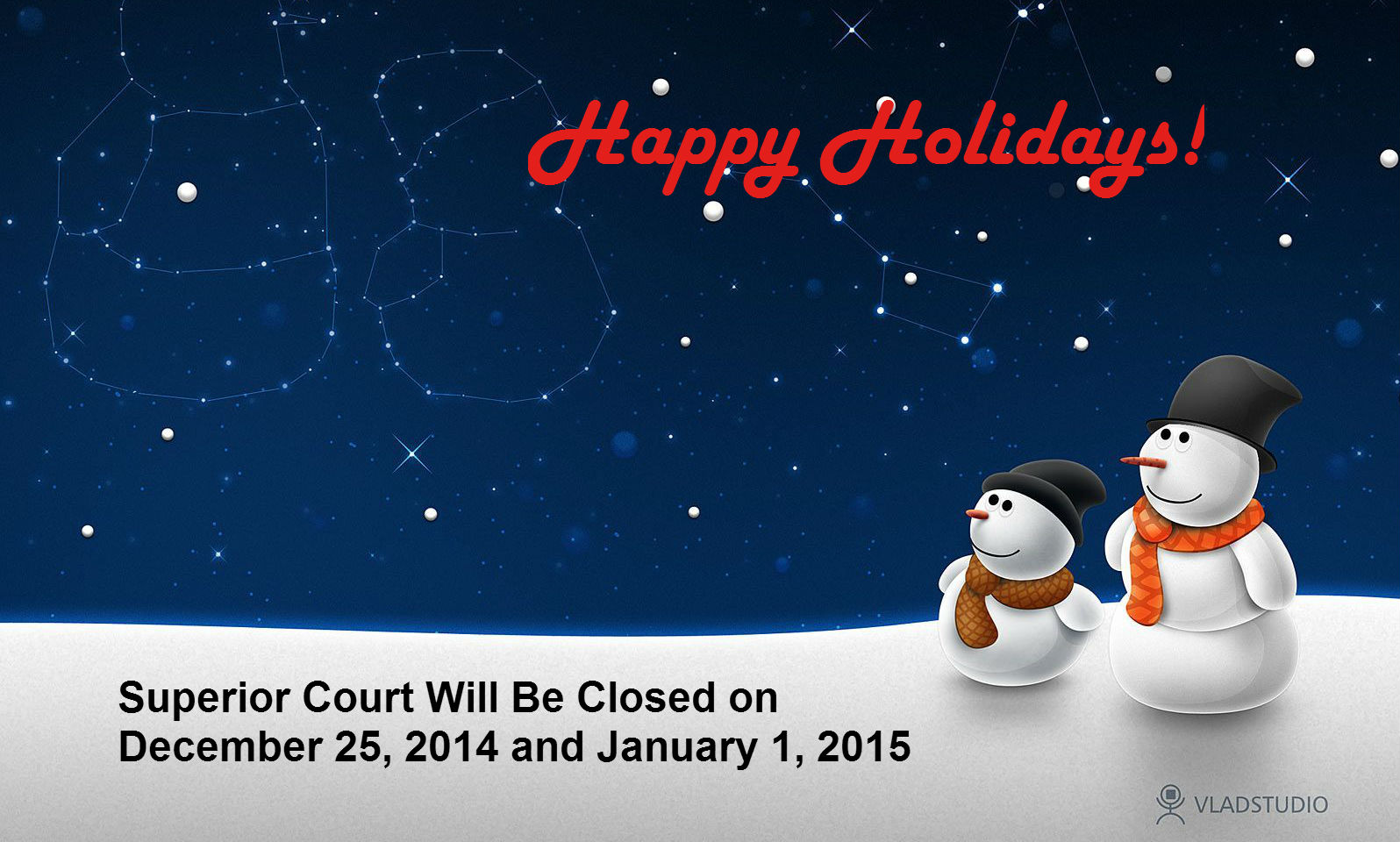 Winter Holiday closure
